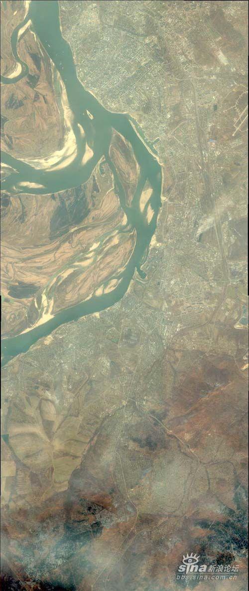 中国领土黑瞎子岛卫星图全貌(图)转自强国论坛