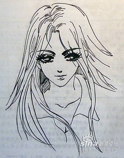 铅笔手绘安琪拉