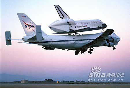 告诉你航天飞机如何用波音747运回肯尼迪航天中心