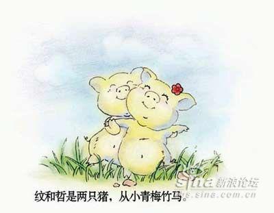 两只小猪,从小青梅竹马