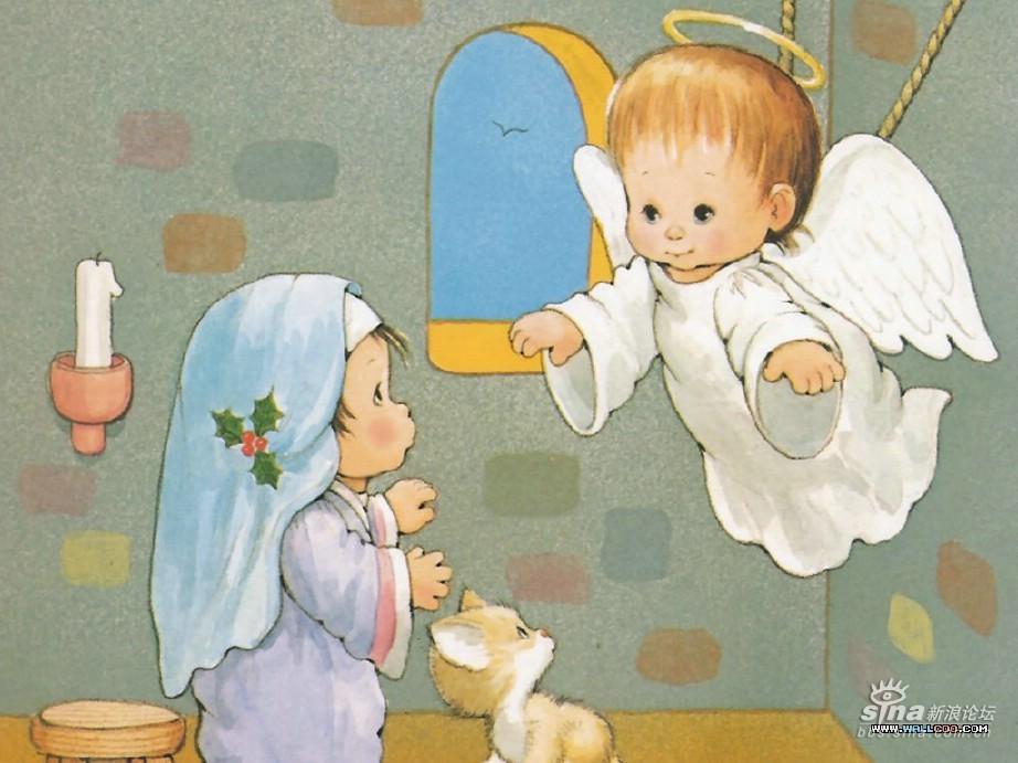 圣诞壁纸——耶稣降生的故事(超可爱滴说)