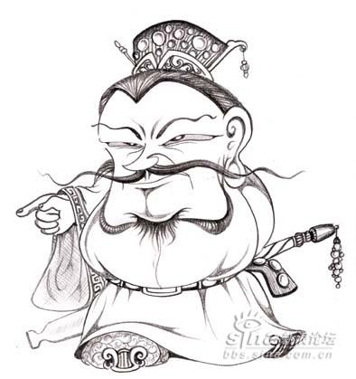 q版三国人物简笔画图片