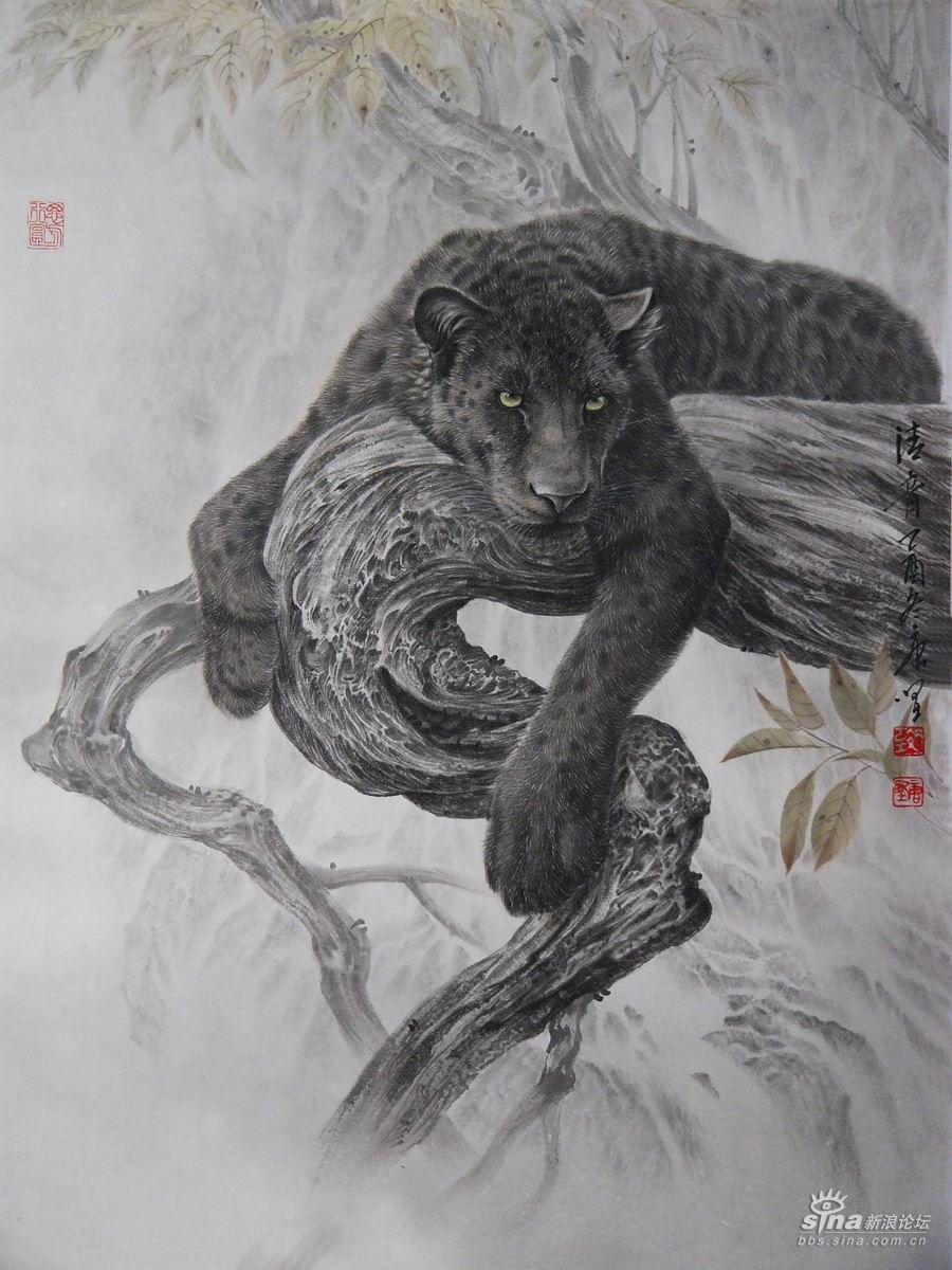 工笔名家唐坚的动物工笔画赏析