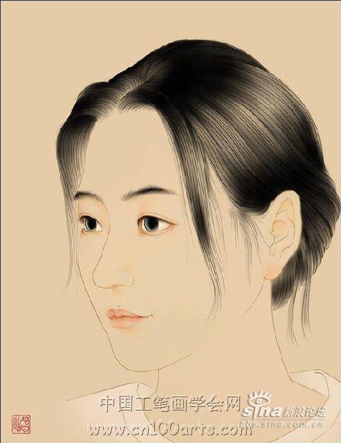 清新优美的韩国工笔画