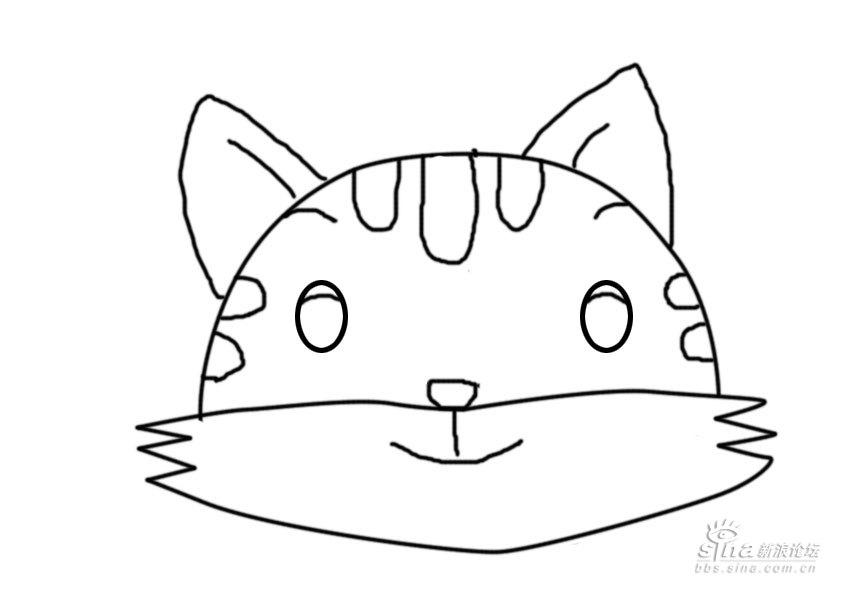 来,给你们一个小兔头饰的草图,刚才用鼠标画的.