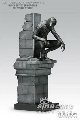 黑衣蜘蛛侠雕像