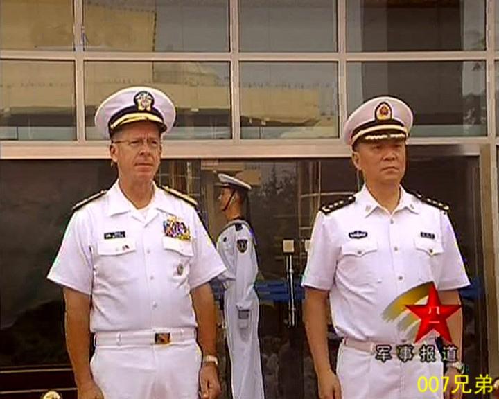 海军07式军服越换越像美军 中美海军上将军服比较 -军事论坛图片