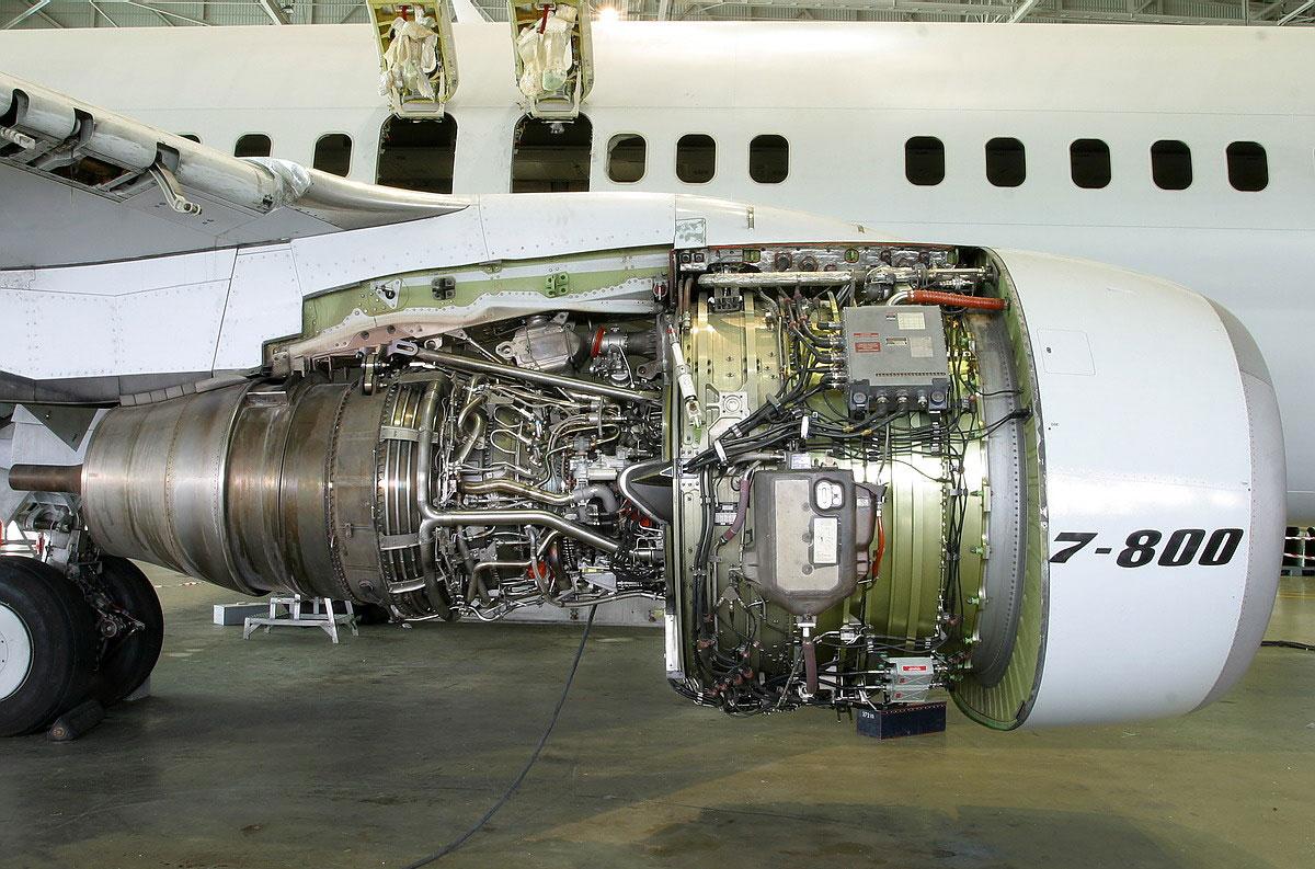 细观波音737-800客机发动机