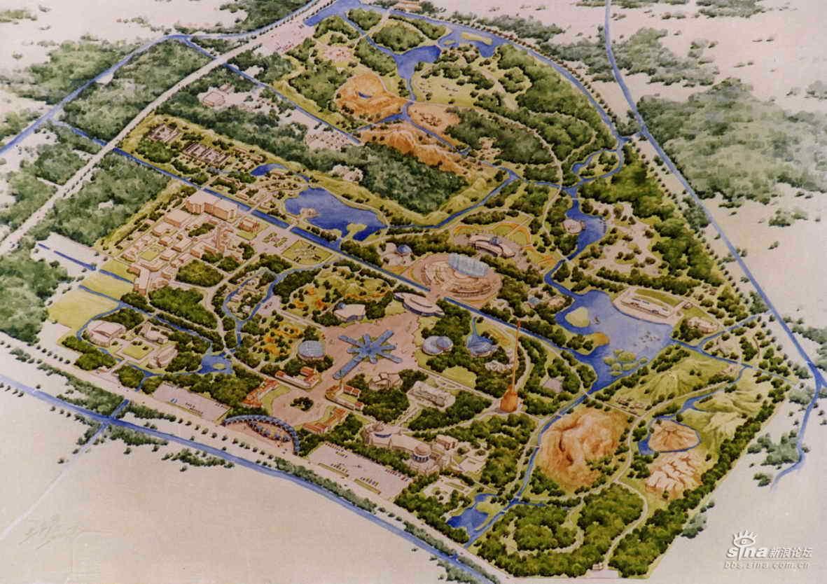 园林设计作品---手绘效果图_文化漫谈_历史论坛_新浪网