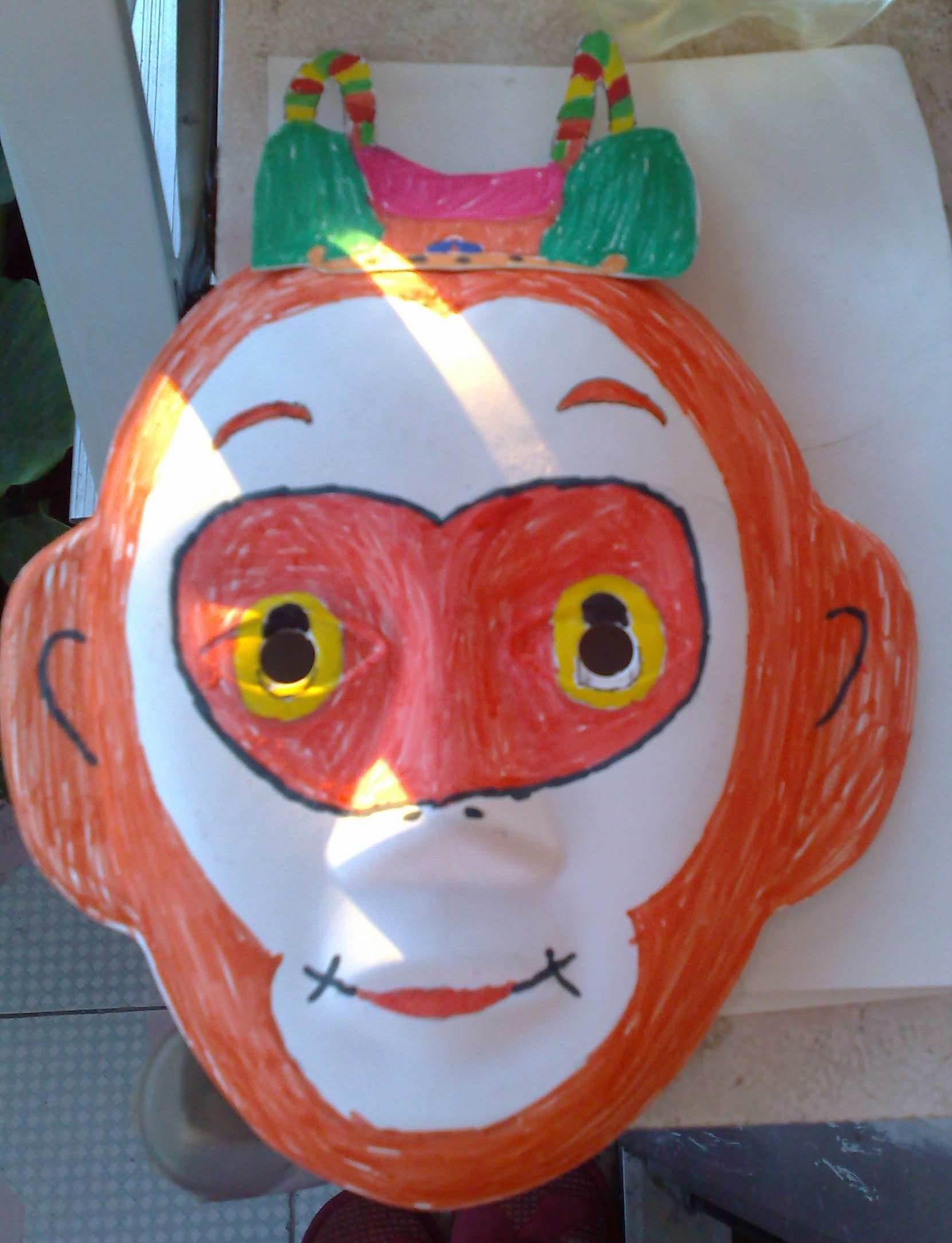 自制万圣节面具手工制作