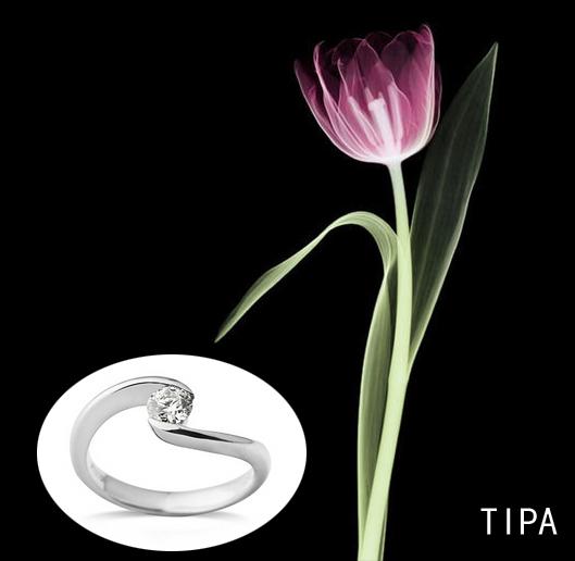 tipc :此款明显纤细的设计,小巧的钻石,简单的轮廓线条,没有刺眼的