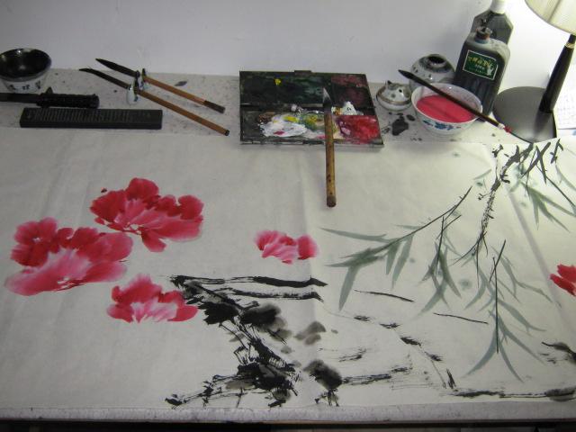 我画写意牡丹的步骤_艺术长廊