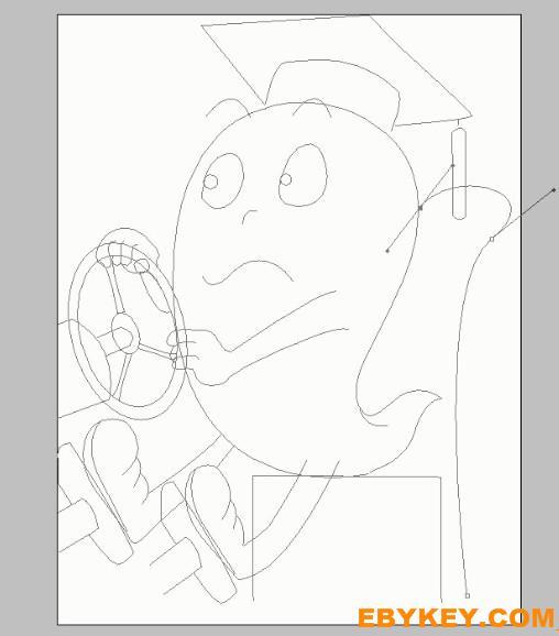 钢笔临摹及后期处理,通常这一系列的创作都是漫画家一个人完成构思