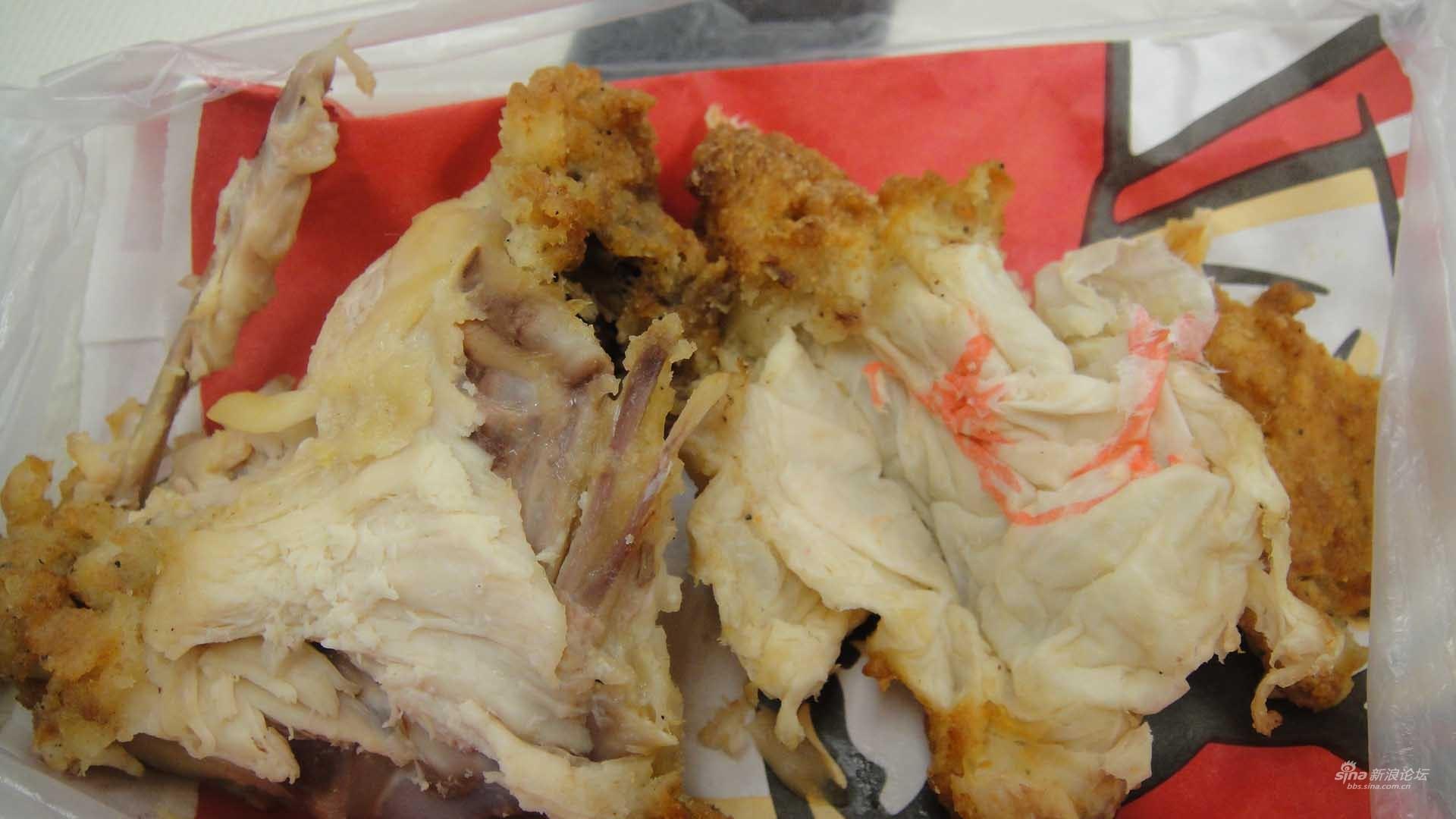 肯德基原味鸡块既然能吃出带肯德基标志的纸巾图片