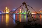 武汉江边夜色